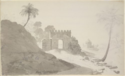 Western gate of Sher Shah's Tomb, Sasaram (Bihar). February 1790